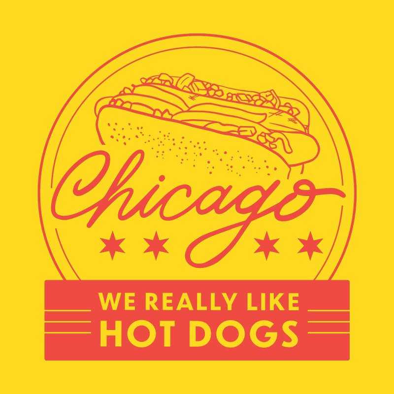 Chicago : We Really Like Hot Dogs by 5 Eye Studio