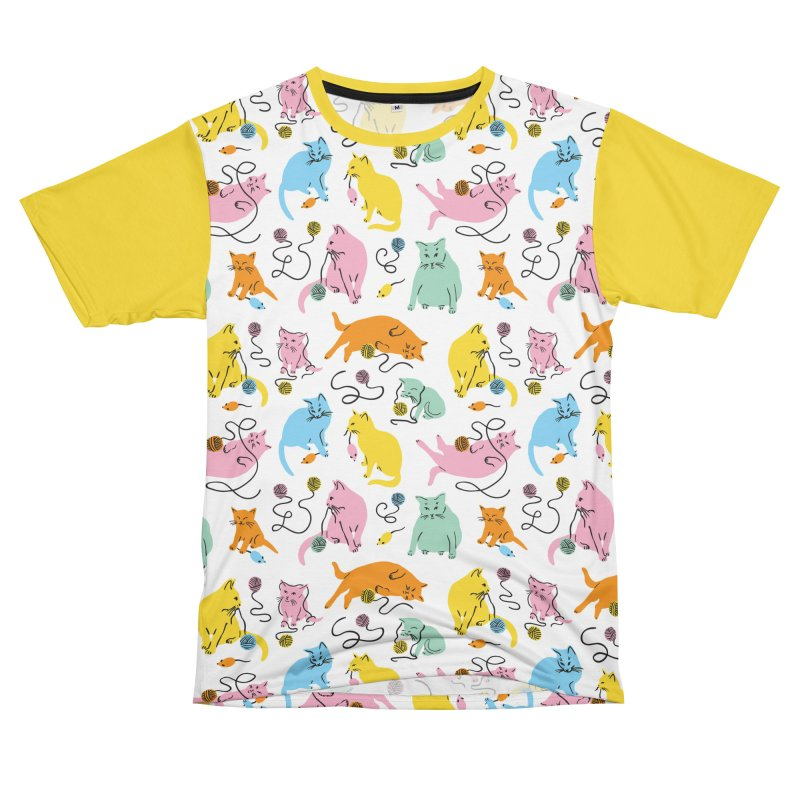 Here for the Cats - Rainbow Men's Cut & Sew by 5 Eye Studio