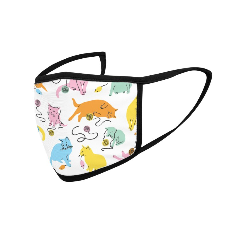 Here for the Cats - Rainbow Accessories Face Mask by 5 Eye Studio