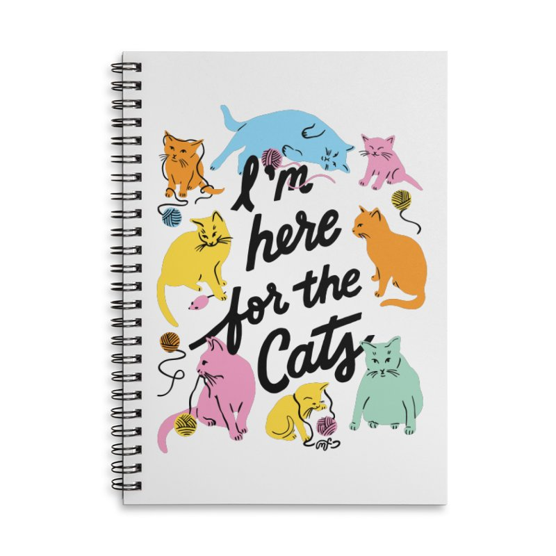 Here for the Cats - Rainbow Accessories Notebook by 5 Eye Studio