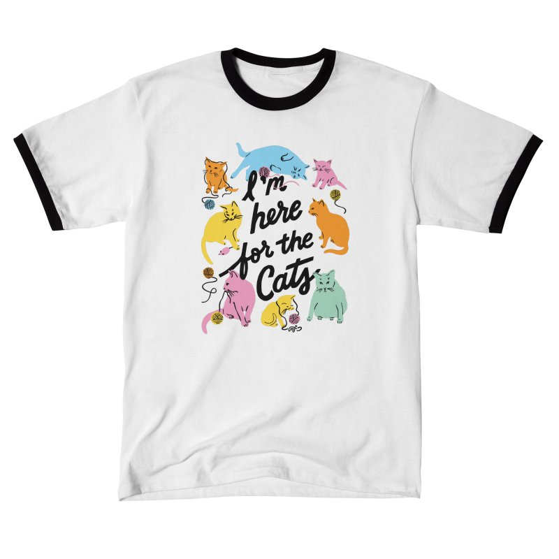 Here for the Cats - Rainbow Guys T-Shirt by 5 Eye Studio