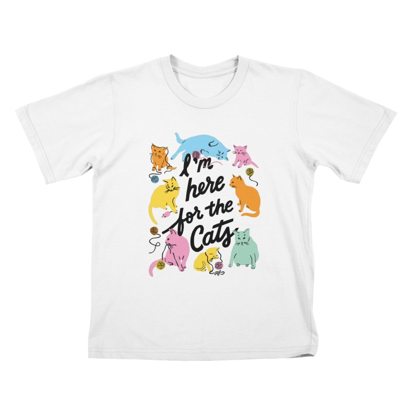 Here for the Cats - Rainbow Kiddos T-Shirt by 5 Eye Studio