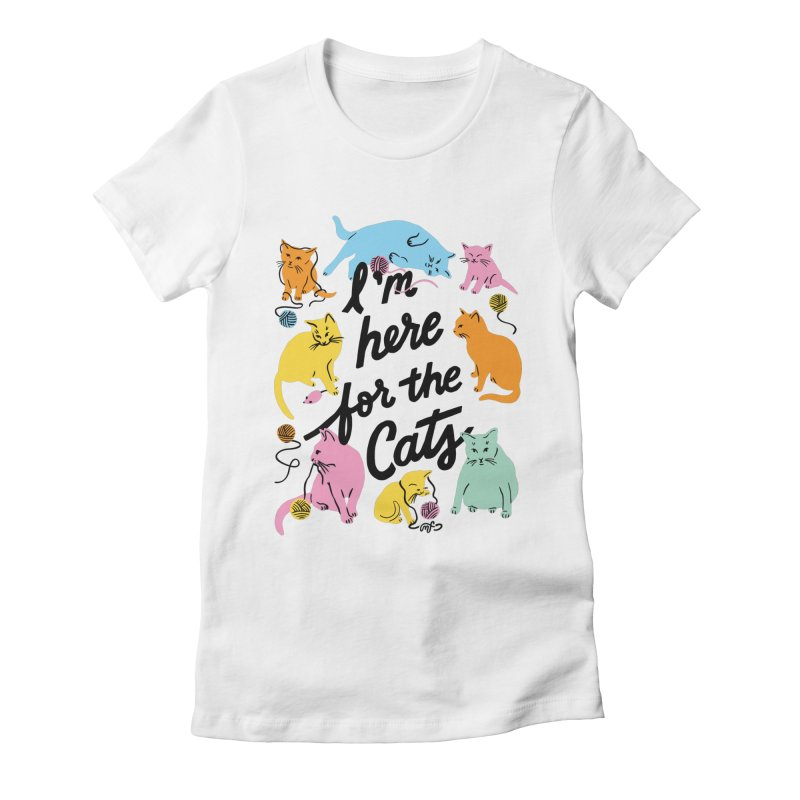 Here for the Cats - Rainbow Gals T-Shirt by 5 Eye Studio