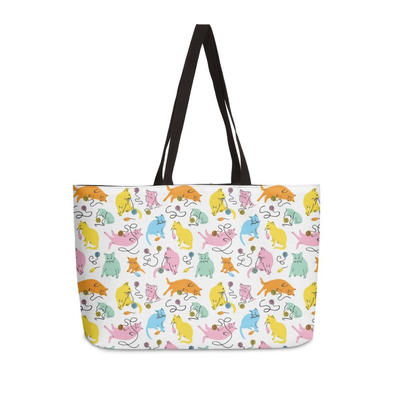 Here for the Cats - Rainbow Accessories Bag by 5 Eye Studio