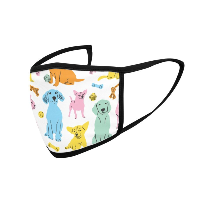 I'm Here for the Dogs - Rainbow Accessories Face Mask by 5 Eye Studio