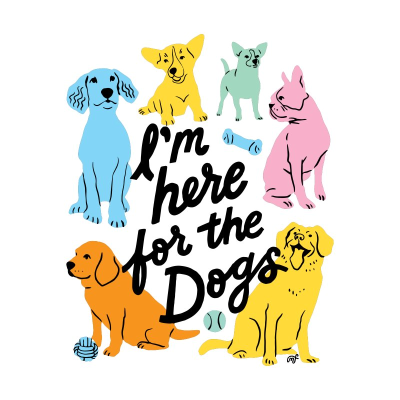 I'm Here for the Dogs - Rainbow Accessories Bag by 5 Eye Studio