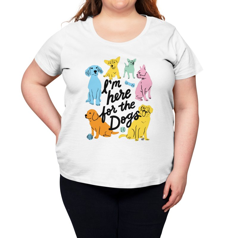I'm Here for the Dogs - Rainbow Women's Scoop Neck by 5 Eye Studio
