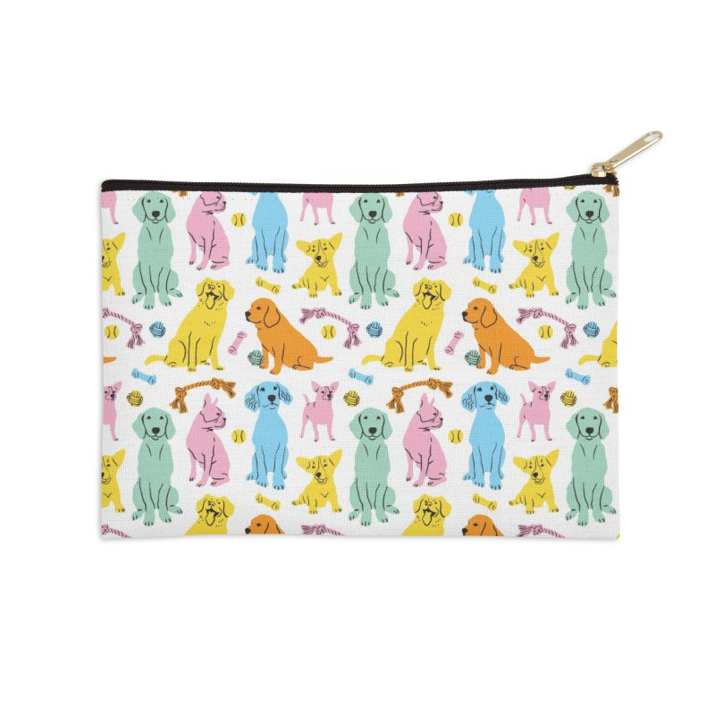 I'm Here for the Dogs - Rainbow Accessories Zip Pouch by 5 Eye Studio