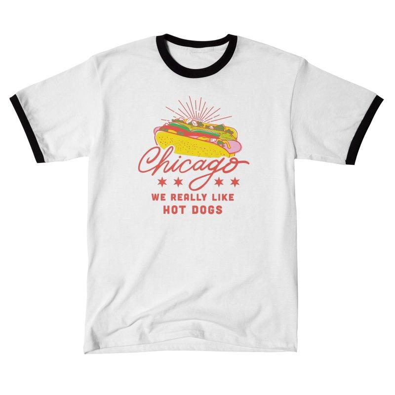 Chicago Hot Dog (Pink) Guys T-Shirt by 5 Eye Studio