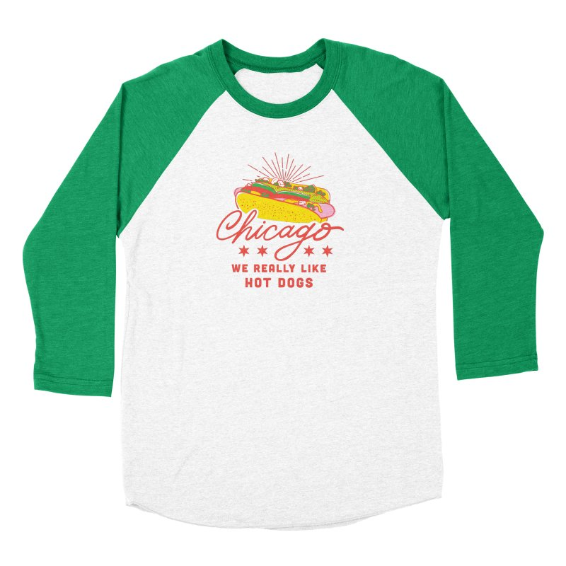Chicago Hot Dog (Pink) Guys Longsleeve T-Shirt by 5 Eye Studio