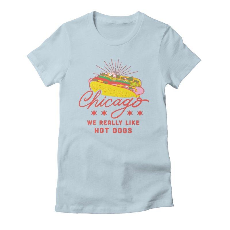 Chicago Hot Dog (Pink) Women's T-Shirt by 5 Eye Studio