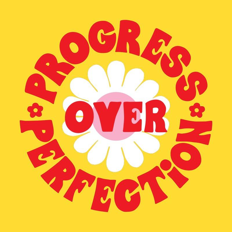 Progress Over Perfection Guys T-Shirt by 5 Eye Studio