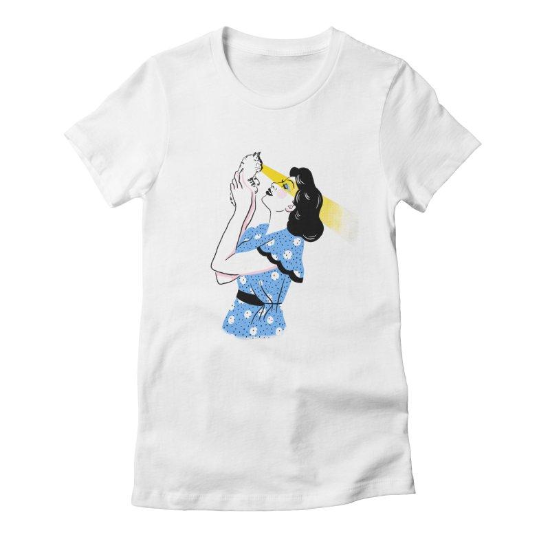 Cat Lady Gals T-Shirt by 5 Eye Studio