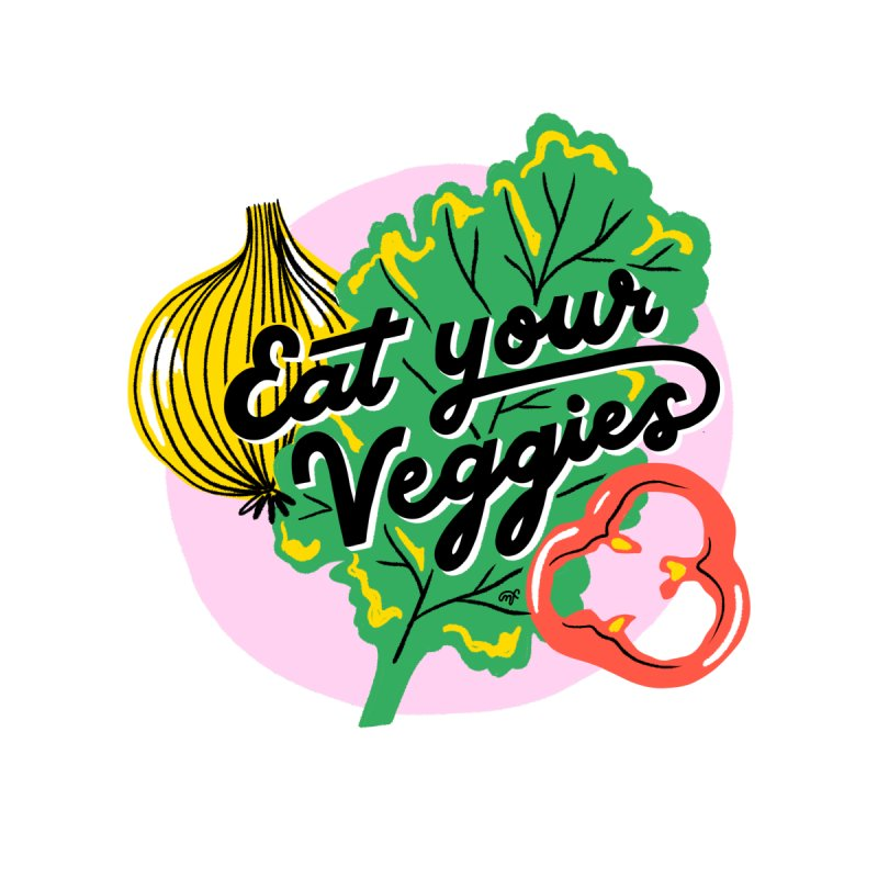Eat Your Veggies Masks + Goodies Button by 5 Eye Studio