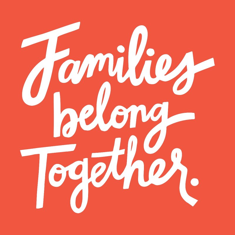Families Belong Together Home Mounted Acrylic Print by 5 Eye Studio