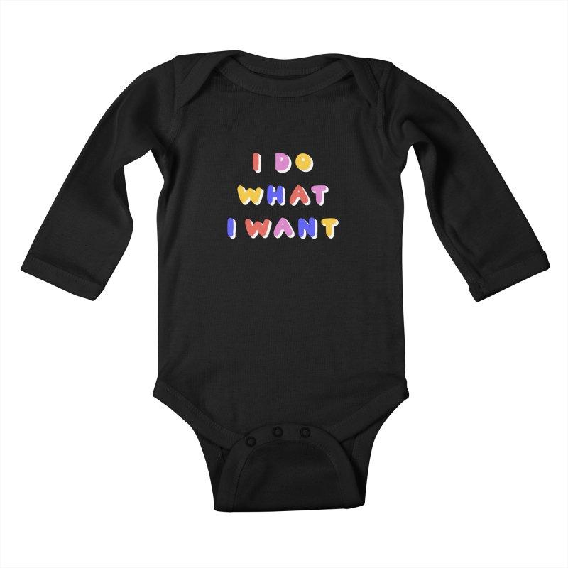 I Do What I Want Kiddos Baby Longsleeve Bodysuit by 5 Eye Studio