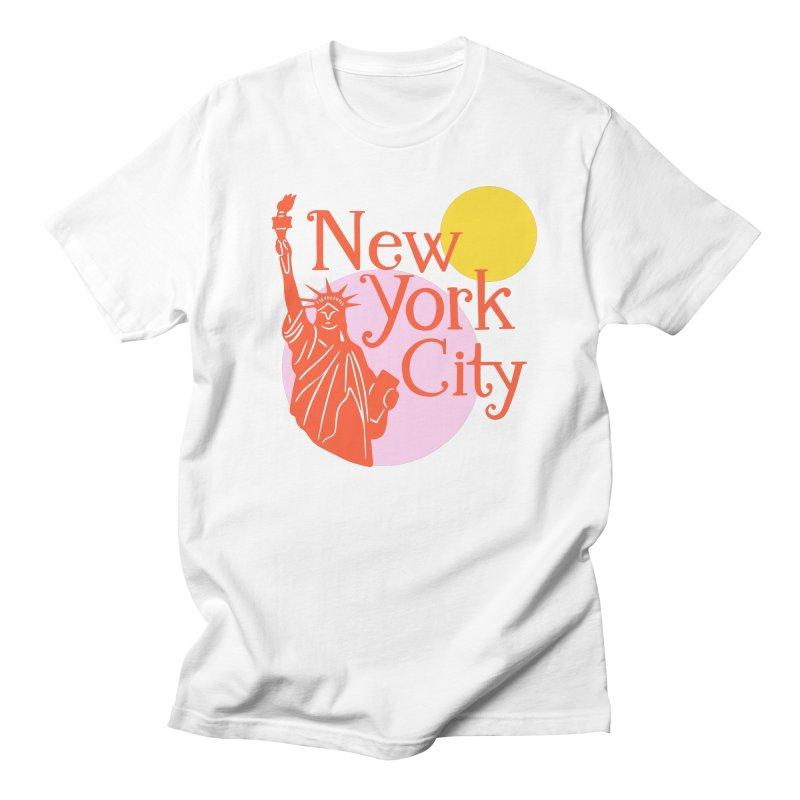 Lady Liberty Men's T-Shirt by 5 Eye Studio