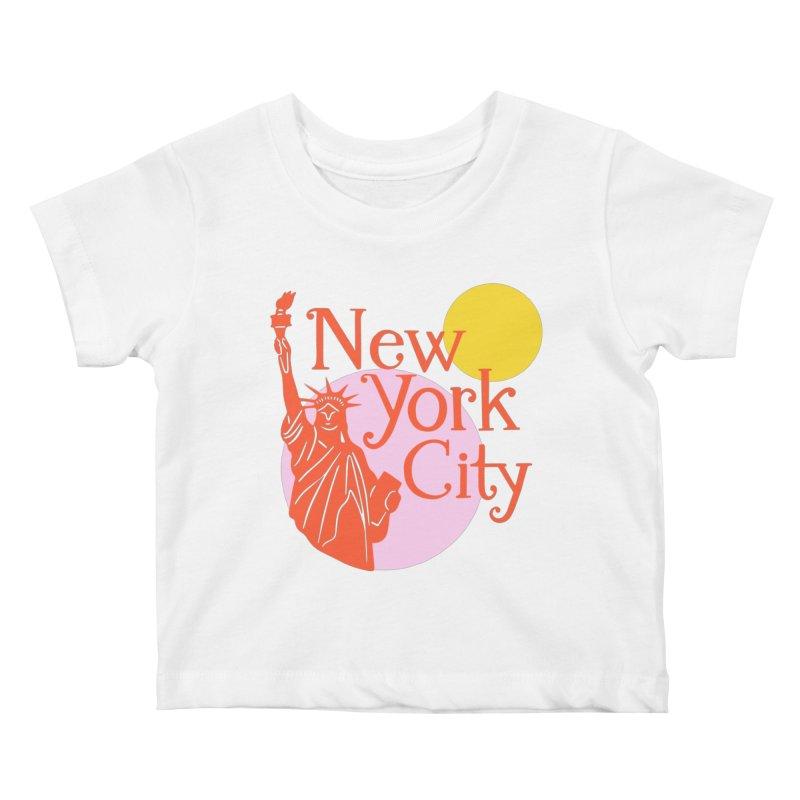 Lady Liberty Kids Baby T-Shirt by 5 Eye Studio