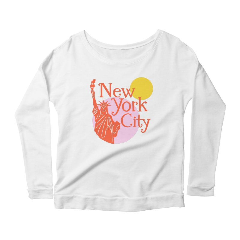 Lady Liberty Women's Longsleeve T-Shirt by 5 Eye Studio