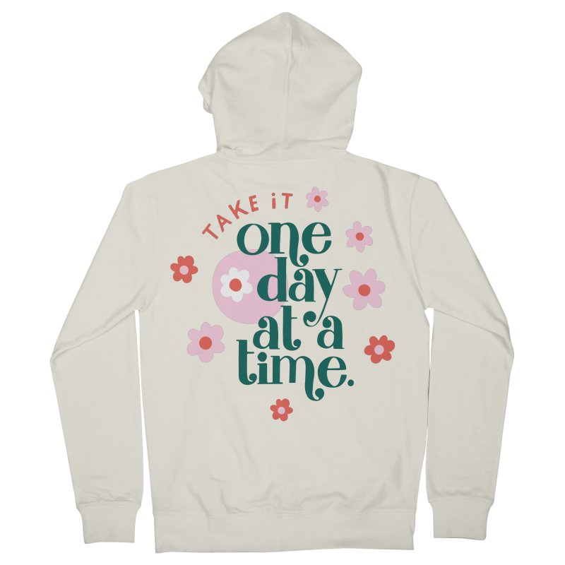 One Day at a Time Men's Zip-Up Hoody by 5 Eye Studio