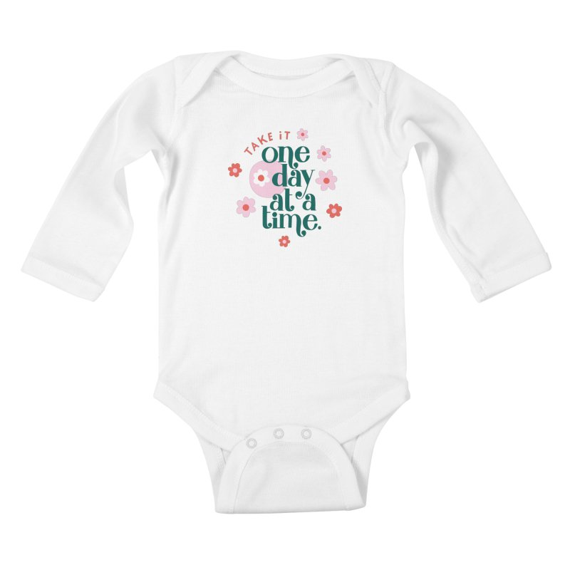One Day at a Time Kiddos Baby Longsleeve Bodysuit by 5 Eye Studio