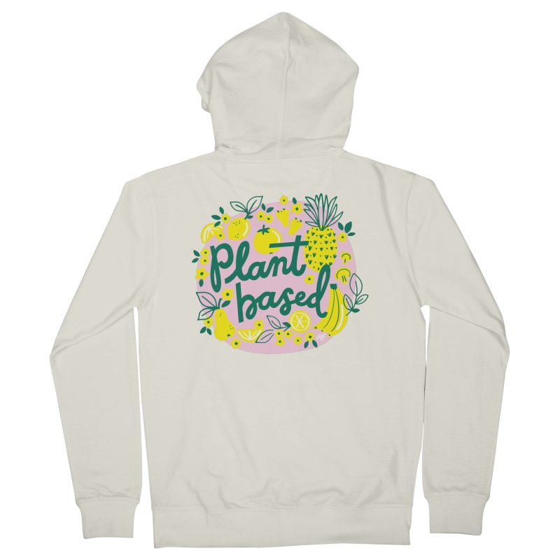 Plant Based Men's Zip-Up Hoody by 5 Eye Studio