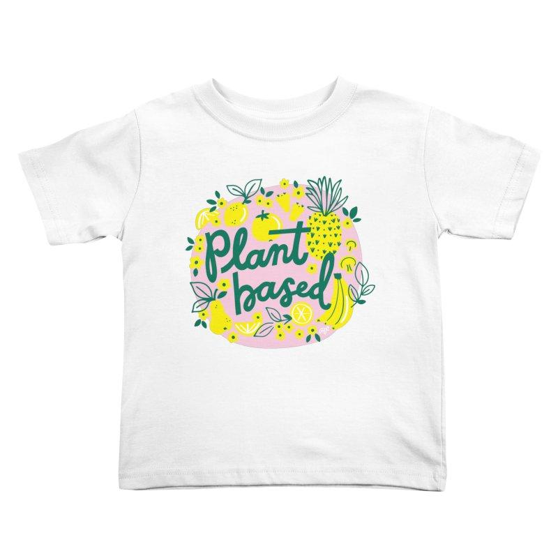 Plant Based Kids Toddler T-Shirt by 5 Eye Studio