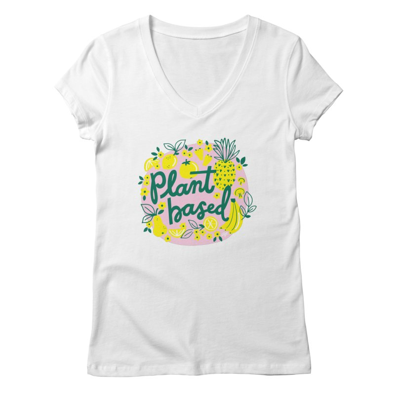 Plant Based Women's V-Neck by 5 Eye Studio