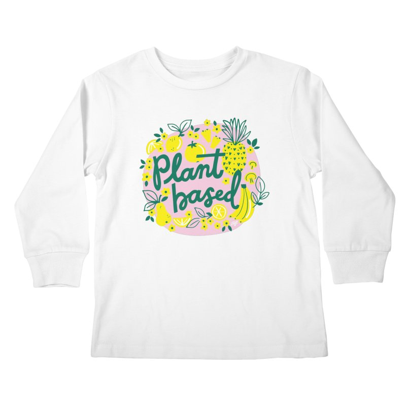 Plant Based Kids Longsleeve T-Shirt by 5 Eye Studio