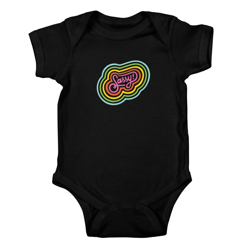 Sassy Rainbow Kids Baby Bodysuit by 5 Eye Studio