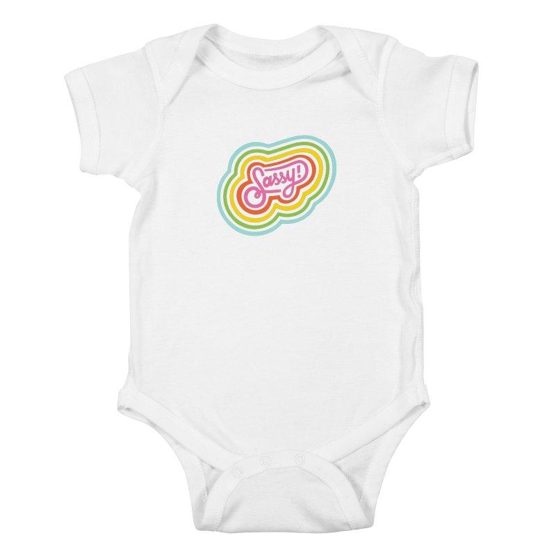 Sassy Rainbow Kids Baby Bodysuit by 5 Eye Studio