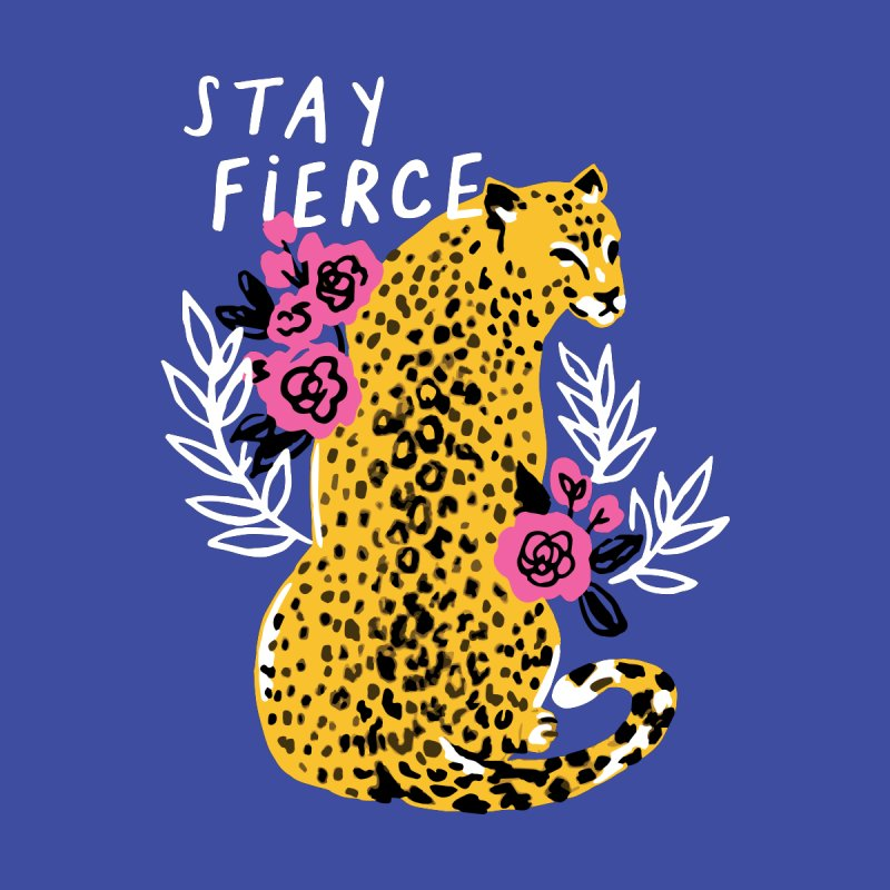 Stay Fierce Masks + Goodies Beach Towel by 5 Eye Studio