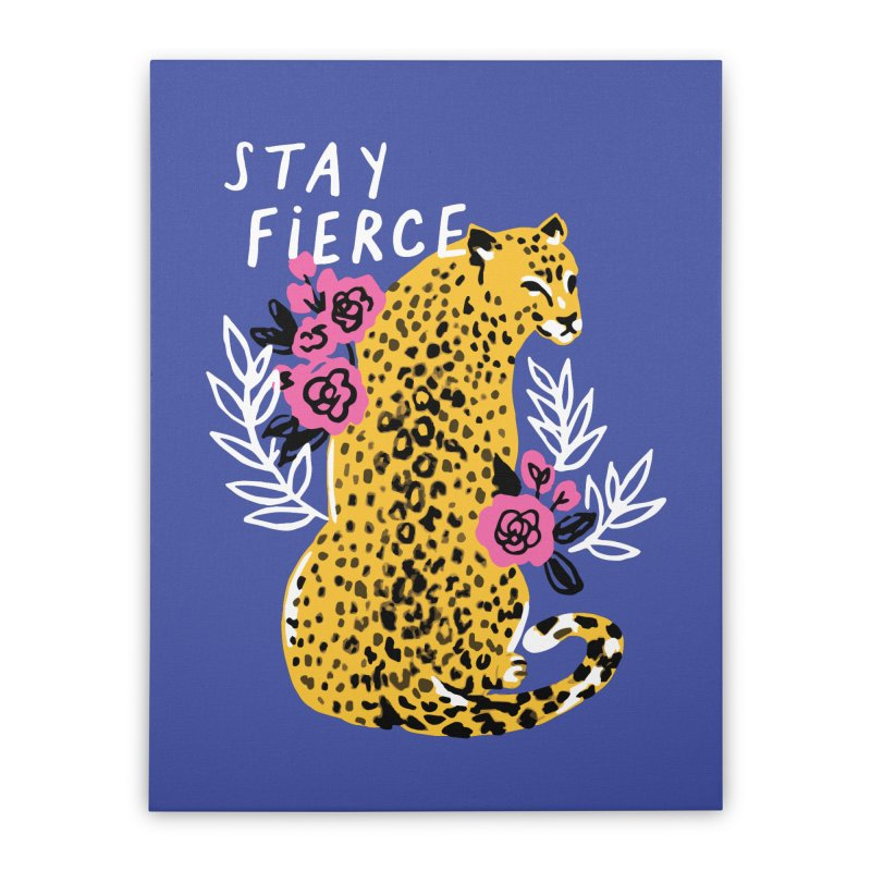 Stay Fierce Home Stretched Canvas by 5 Eye Studio