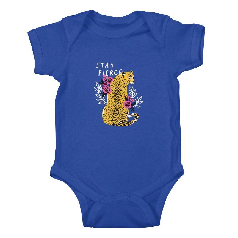 Stay Fierce Kids Baby Bodysuit by 5 Eye Studio