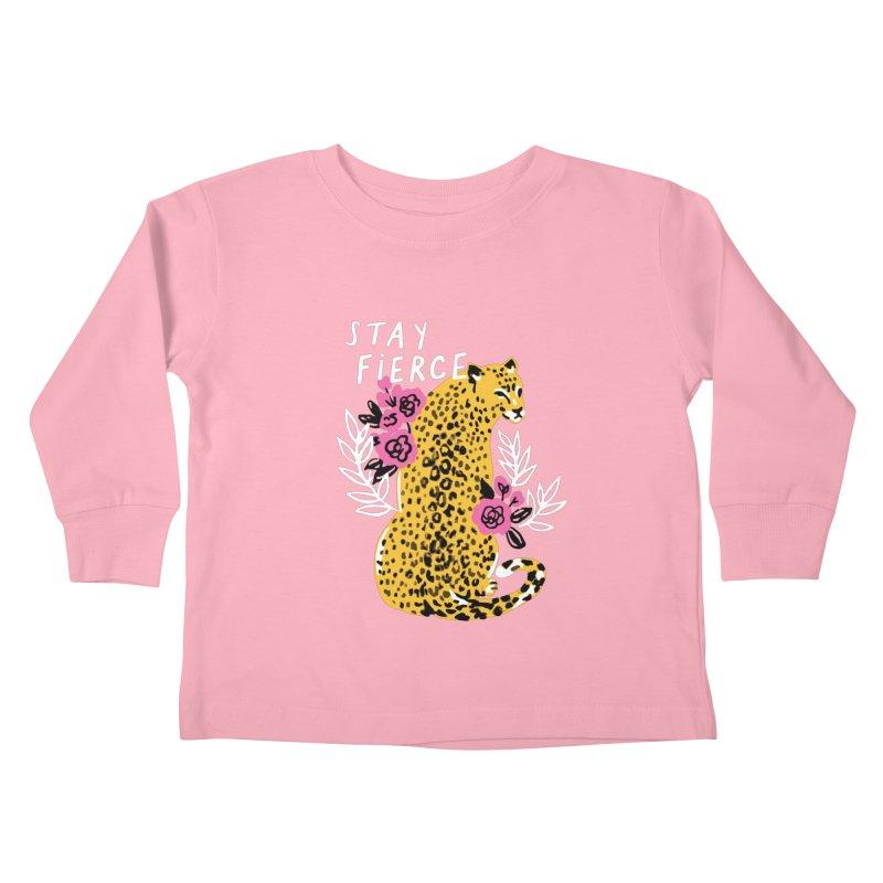 Stay Fierce Kids Toddler Longsleeve T-Shirt by 5 Eye Studio