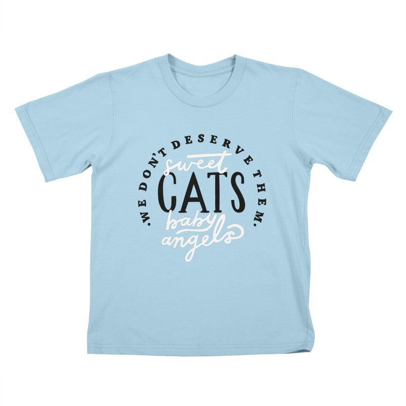 Sweet Baby Cats Kids T-Shirt by 5 Eye Studio