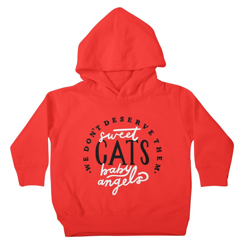 Sweet Baby Cats Kids Toddler Pullover Hoody by 5 Eye Studio