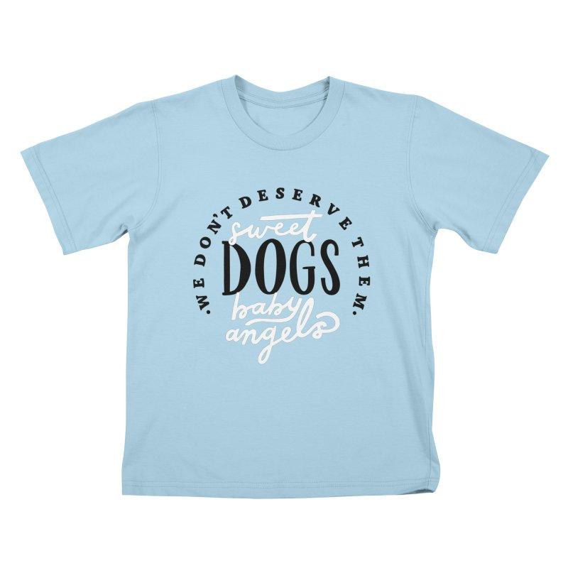 Sweet Baby Dogs Kids T-Shirt by 5 Eye Studio