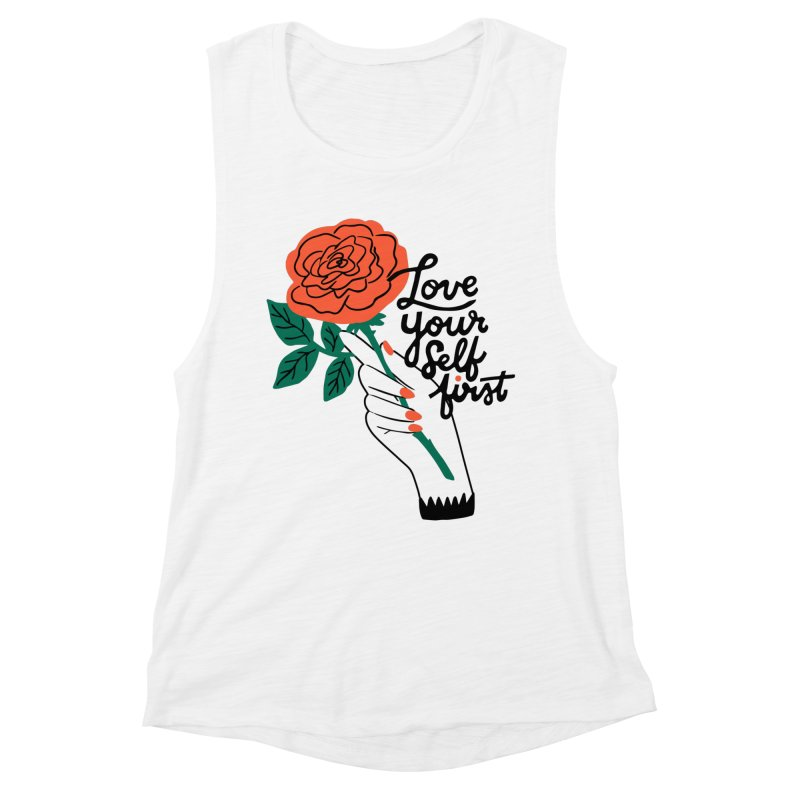 Love Yourself First Gals Tank by 5 Eye Studio