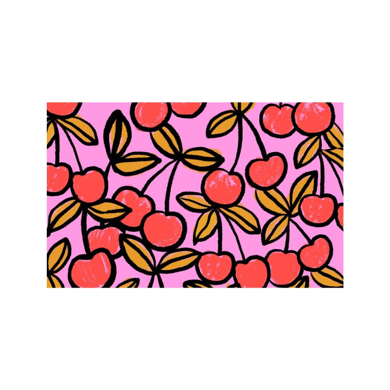 Sketchy Cherries Print Accessories Greeting Card by 5 Eye Studio