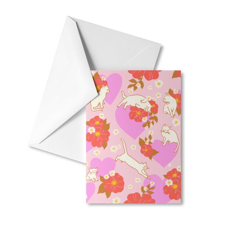 Kitty Love Print Accessories Greeting Card by 5 Eye Studio