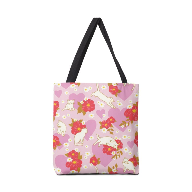 Kitty Love Print Accessories Bag by 5 Eye Studio