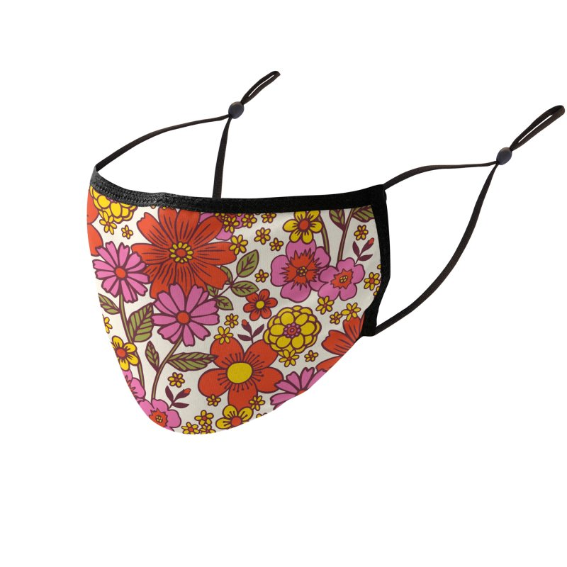 Groovy Floral Print Masks + Goodies Face Mask by 5 Eye Studio