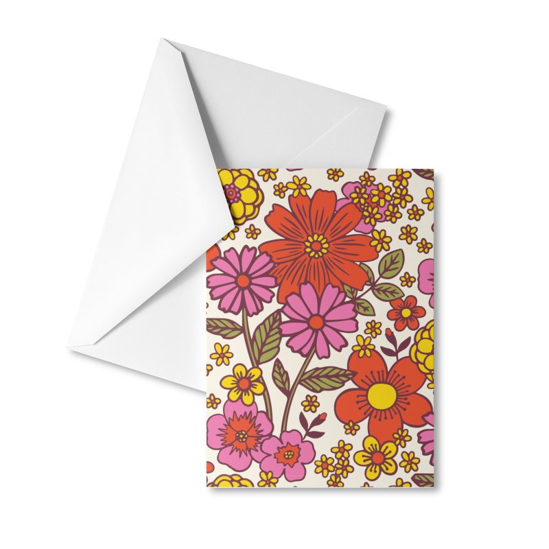Groovy Floral Print Accessories Greeting Card by 5 Eye Studio