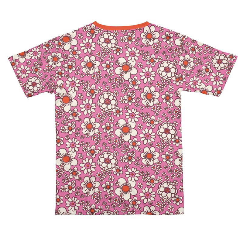 Pink Retro Daisy Print Guys Cut & Sew by 5 Eye Studio