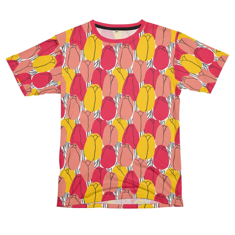 Graphic Tulips Print Guys Cut & Sew by 5 Eye Studio