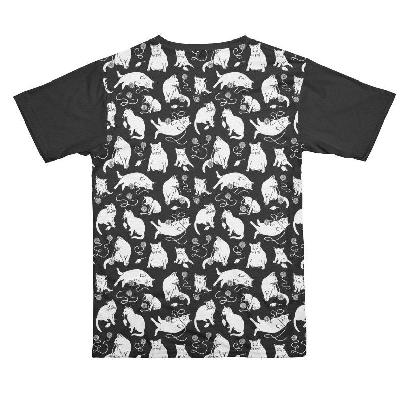 I'm Here for the Cats Print - Black & White Guys Cut & Sew by 5 Eye Studio