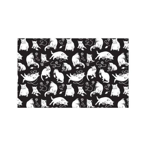 Design for I'm Here for the Cats Print - Black & White