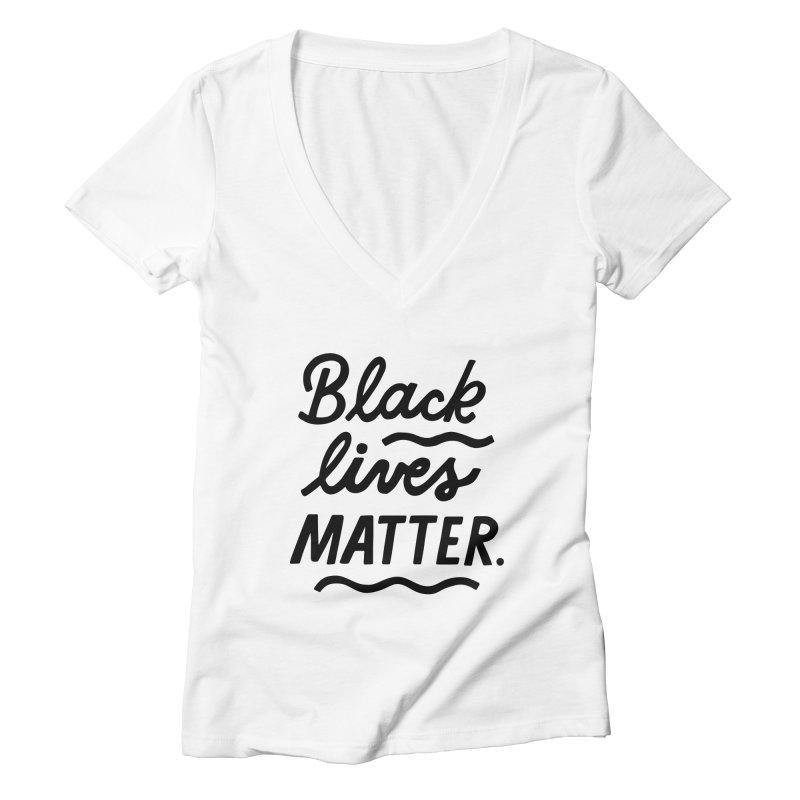 BLACK LIVES MATTER | 1 Women's V-Neck by 5 Eye Studio