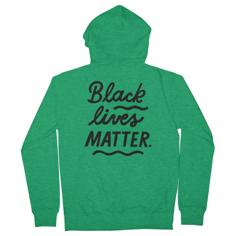 BLACK LIVES MATTER | 1 Men's Zip-Up Hoody by 5 Eye Studio